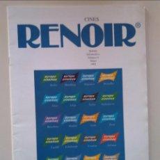 Cine: CINES RENOIR. BOLETÍN INFORMATIVO NÚMERO 8. MAYO 1993. 23 PÁGINAS. Lote 233370675