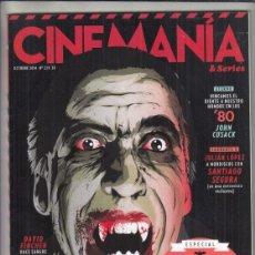 Cine: REVISTA CINEMANIA Nº 229 AÑO 2014. ESPECIAL DRÁCULA. TORRENTE 5. JOHN CUSACK.. Lote 233415290