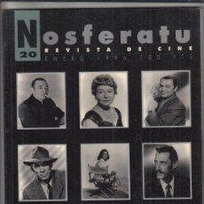 Cinema: REVISTA NOSFERATU Nº 20AÑO 1996. SECUNDARIOS Y ANTAGONISTAS DEL HOLLYWOOD CLÁSICO.. Lote 233849860