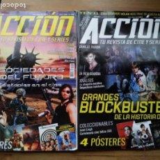 Cine: LOTE 8 REVISTAS DE CINE - ACCION - Nº 2003,2005,2006,2007,2008,2010,2011,2012 - AÑO 2020 CON POSTERS. Lote 234100260