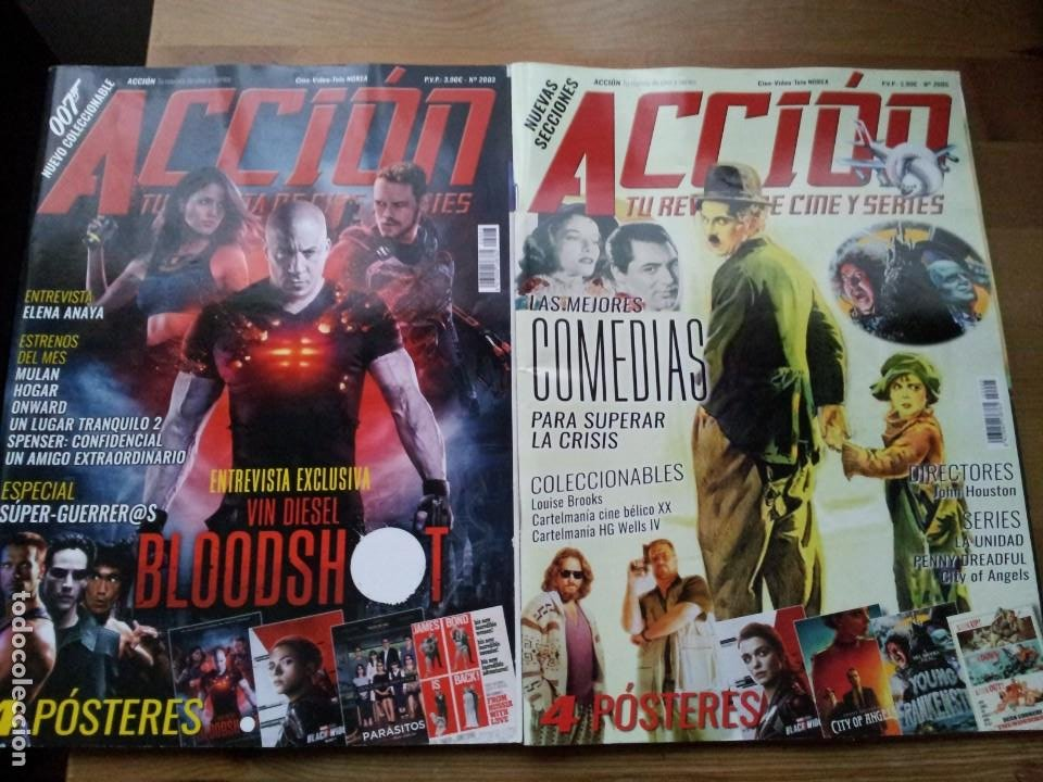 Cine: lote 8 revistas de cine - accion - Nº 2003,2005,2006,2007,2008,2010,2011,2012 - año 2020 con posters - Foto 2 - 234100260