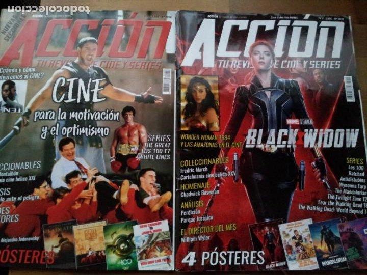 Cine: lote 8 revistas de cine - accion - Nº 2003,2005,2006,2007,2008,2010,2011,2012 - año 2020 con posters - Foto 3 - 234100260