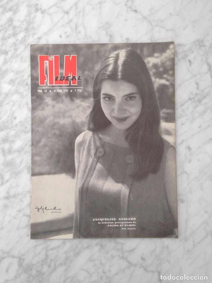 FILM IDEAL - Nº 24 - 1958 - JACQUELINE SASSARD, MOSTRA DE VENECIA, SARA MONTIEL, CHARLOT (Cine - Revistas - Film Ideal)