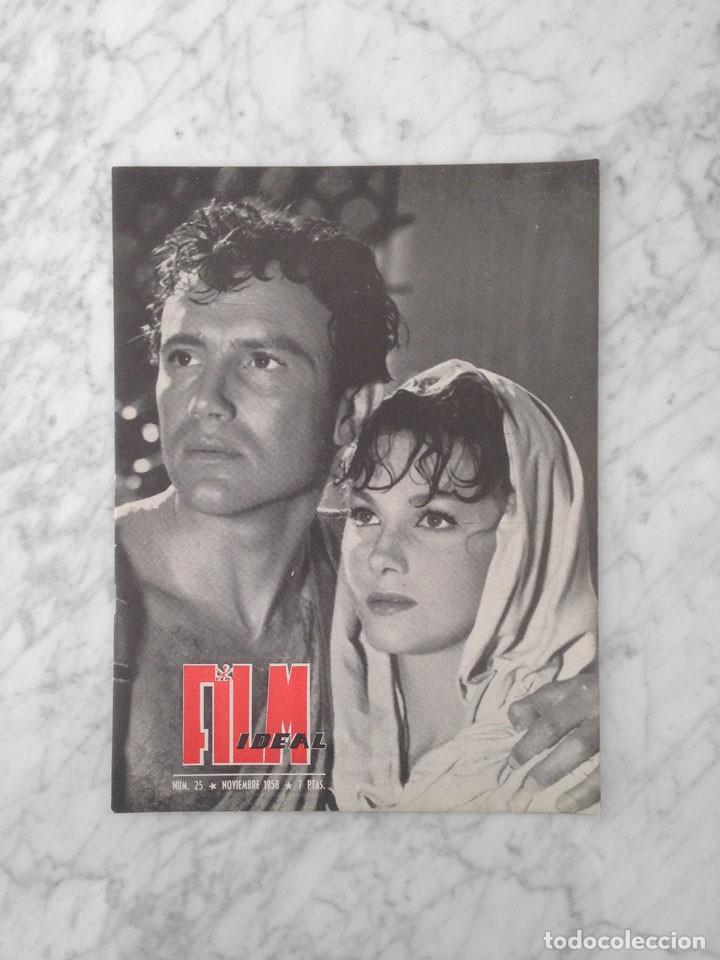 FILM IDEAL - Nº 25 - 1958 - ISABELLE CAREY, ANTONIO DE TEFFE, INGMAR BERGMAN, ALEC GUINNESS (Cine - Revistas - Film Ideal)