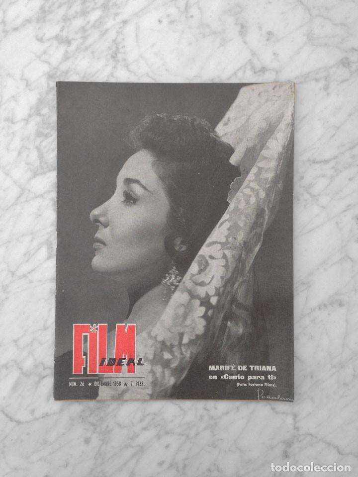 FILM IDEAL - Nº 26 - 1958 - MARIFE DE TRIANA, CINE INFANTIL, ALELUYA, TYRONE POWER, LUIGI ZAMPA (Cine - Revistas - Film Ideal)