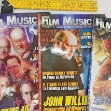 Cinema: 3 REVISTAS FILM MUSIC JOHN WILLIAMS LALO SCHIFRIN GABRIEL YARED ENVIO CERTIFICADO GRATUITO. Lote 234340645