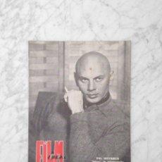 Cine: FILM IDEAL - Nº 29 - 1959 - YUL BRYNNER, PRESUPUESTO DE UNA PELICULA ESPAÑOLA. Lote 234647615