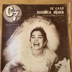 Cine: REVISTA CINE EN 7 DÍAS 1964 BODA JUANITA REINA.FESTIVAL DE CINE SAN SEBASTIÁN.LA TIA TULA. Lote 235083715