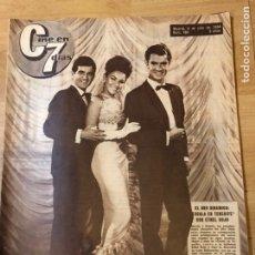 Cine: REVISTA CINE EN 7 DÍAS 1964 EL DÚO DINÁMICO ETHEL ROJO INGRID BERGMAN. Lote 235084005