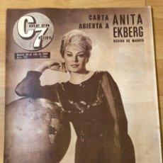 Cine: REVISTA CINE EN 7 DÍAS 1964 ANITA EKBERG EL DÚO DINÁMICO AVA GARDNER SONIA BRUNO. Lote 235084750