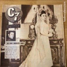 Cine: REVISTA CINE EN 7 DÍAS 1964 BODA MARUJITA DÍAZ ANTONIO GADES.AVA GARDNER. Lote 235085190