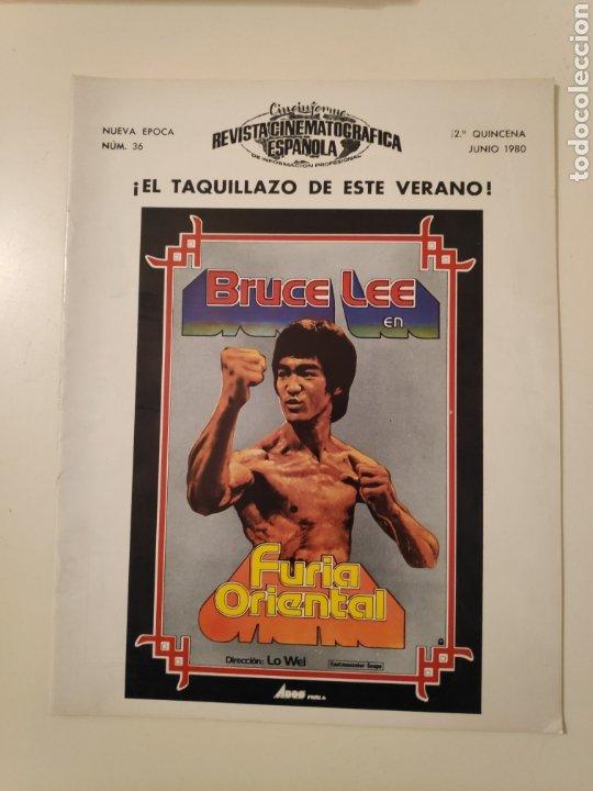 NT CINEINFORME REVISTA CINEMATOGRAFICA ESPAÑOLA N° 36 1980 BRUCE LEE FURIA ORIENTAL JESS FRANK (Cine - Revistas - Otros)
