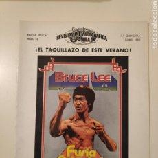 Cinéma: NT CINEINFORME REVISTA CINEMATOGRAFICA ESPAÑOLA N° 36 1980 BRUCE LEE FURIA ORIENTAL JESS FRANK. Lote 235166755