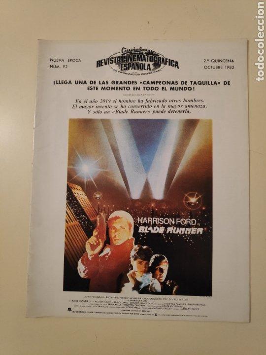 N CINEINFORME REVISTA CINEMATOGRAFICA ESPAÑOLA N° 92 1982 BLADE RUNNER ALMODOVAR HERCULES LA COLMENA (Cine - Revistas - Otros)