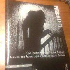 Cine: CINE FANTASTICO Y DE TERROR ALEMAN -GUIA DEL VISITANTE -ZINEMATEKA CINEMATECA MUSEO BBAA BILBAO 2002. Lote 235400520