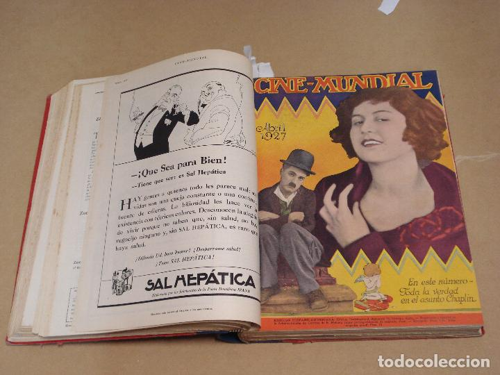 Cine: CINE MUNDIAL REVISTA AMERICANA en ESPAÑOL TOMO ENCUADERNADO FEBRERO 1925 + ENERO DIC 1927 13 NUMEROS - Foto 4 - 235681100