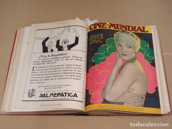 Cine: CINE MUNDIAL REVISTA AMERICANA en ESPAÑOL TOMO ENCUADERNADO FEBRERO 1925 + ENERO DIC 1927 13 NUMEROS - Foto 5 - 235681100