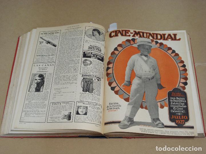 Cine: CINE MUNDIAL REVISTA AMERICANA en ESPAÑOL TOMO ENCUADERNADO FEBRERO 1925 + ENERO DIC 1927 13 NUMEROS - Foto 6 - 235681100