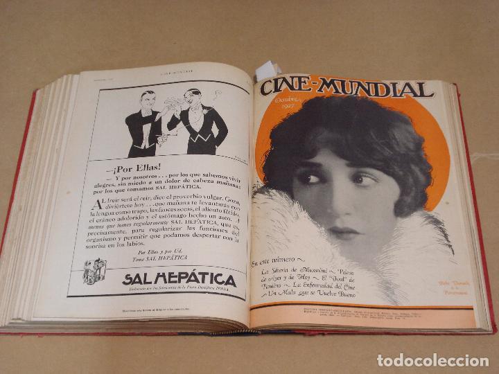 Cine: CINE MUNDIAL REVISTA AMERICANA en ESPAÑOL TOMO ENCUADERNADO FEBRERO 1925 + ENERO DIC 1927 13 NUMEROS - Foto 7 - 235681100