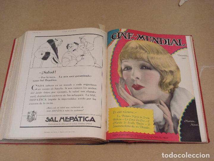 Cine: CINE MUNDIAL REVISTA AMERICANA en ESPAÑOL TOMO ENCUADERNADO FEBRERO 1925 + ENERO DIC 1927 13 NUMEROS - Foto 10 - 235681100