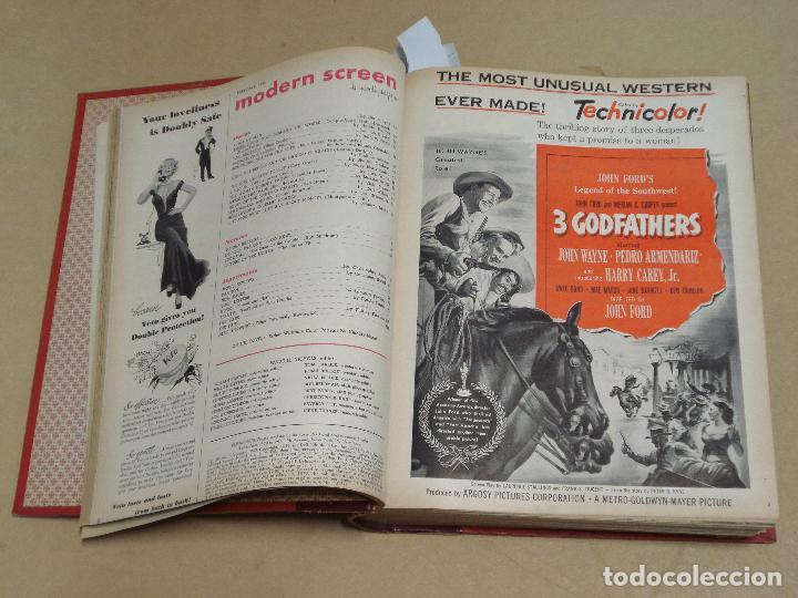 Cine: MODERN SCREEN REVISTA AMERICANA TOMO ENCUADERNADO ENERO A DICIEMBRE 1949 - Foto 2 - 235694050