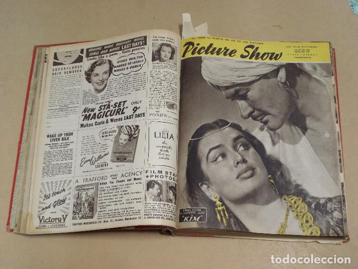 Cine: PICTURE SHOW REVISTA INGLESA TOMO ENCUADERNADO 18 NÚMEROS DE 1950 Y 1951 - Foto 2 - 235700080