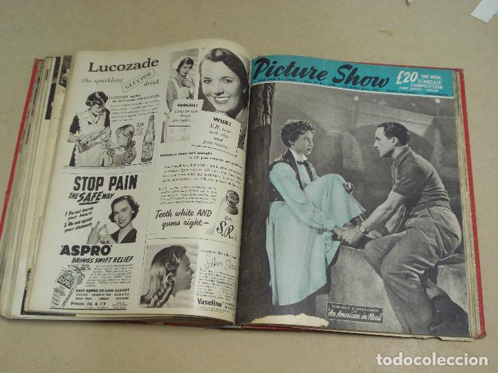 Cine: PICTURE SHOW REVISTA INGLESA TOMO ENCUADERNADO 18 NÚMEROS DE 1950 Y 1951 - Foto 8 - 235700080