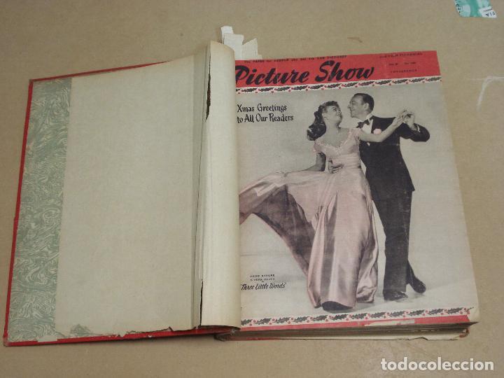 PICTURE SHOW REVISTA INGLESA TOMO ENCUADERNADO 18 NÚMEROS DE 1950 Y 1951 (Cine - Revistas - Otros)