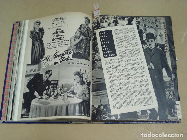 Cine: CAMARA REVISTA ESPAÑOLA TOMO ENCUADERNADO DE AGOSTO A DICIEMBRE DE 1944 Nº 38 A 47 - Foto 7 - 235702195