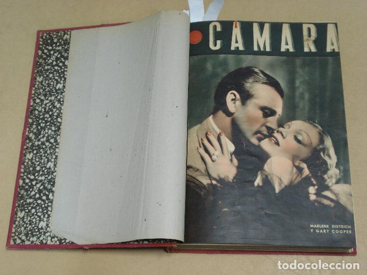 CAMARA REVISTA ESPAÑOLA TOMO ENCUADERNADO 12 NÚMEROS DE JUNIO DE 1942 A ABRIL DE 1944 Nº 9 A 31 (Cine - Revistas - Cámara)