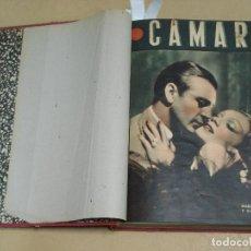 Cine: CAMARA REVISTA ESPAÑOLA TOMO ENCUADERNADO 12 NÚMEROS DE JUNIO DE 1942 A ABRIL DE 1944 Nº 9 A 31. Lote 235703305