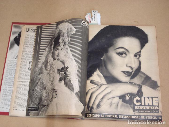 Cine: CINE MUNDO REVISTA ESPAÑOLA TOMO ENCUADERNADO JULIO A DICIEMBRE 1953 21 NÚMEROS MONROE TAYLOR FLORES - Foto 4 - 235705380