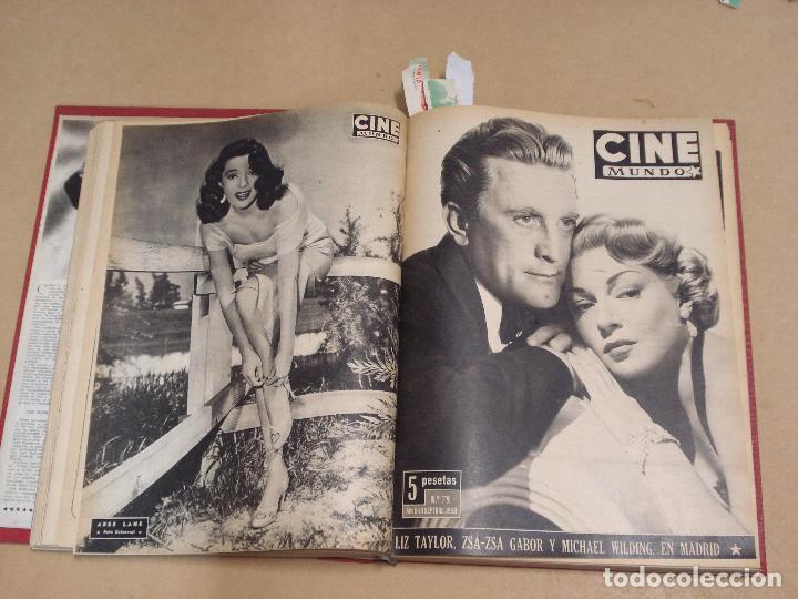 Cine: CINE MUNDO REVISTA ESPAÑOLA TOMO ENCUADERNADO JULIO A DICIEMBRE 1953 21 NÚMEROS MONROE TAYLOR FLORES - Foto 6 - 235705380