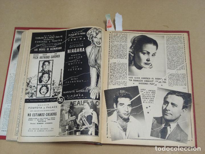 Cine: CINE MUNDO REVISTA ESPAÑOLA TOMO ENCUADERNADO JULIO A DICIEMBRE 1953 21 NÚMEROS MONROE TAYLOR FLORES - Foto 9 - 235705380