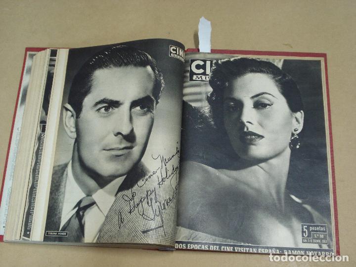 Cine: CINE MUNDO REVISTA ESPAÑOLA TOMO ENCUADERNADO JULIO A DICIEMBRE 1953 21 NÚMEROS MONROE TAYLOR FLORES - Foto 12 - 235705380