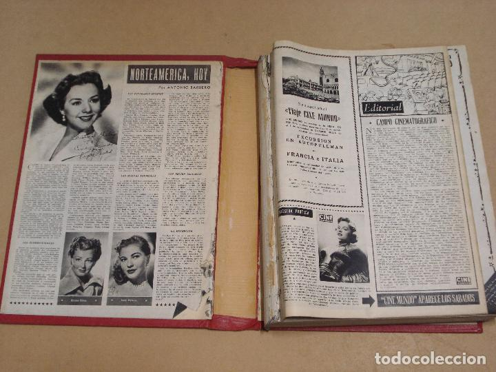 Cine: CINE MUNDO REVISTA ESPAÑOLA TOMO ENCUADERNADO JULIO A DICIEMBRE 1953 21 NÚMEROS MONROE TAYLOR FLORES - Foto 14 - 235705380