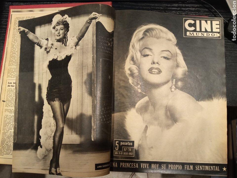 CINE MUNDO REVISTA ESPAÑOLA TOMO ENCUADERNADO JULIO A DICIEMBRE 1953 21 NÚMEROS MONROE TAYLOR FLORES (Cine - Revistas - Otros)