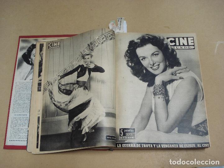 Cine: CINE MUNDO REVISTA ESPAÑOLA TOMO ENCUADERNADO JULIO A DICIEMBRE 1953 21 NÚMEROS MONROE TAYLOR FLORES - Foto 2 - 235705380