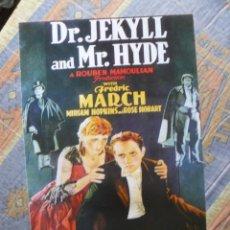 Cinéma: CARTEL CON INFORMACIÓN DETRÁS DE LA PELÍCULA: EL EXTRAÑO CASO DEL DR JECKILL Y MR HYDE. Lote 235788865