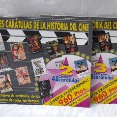 Cine: LOTE DE 3 LIBROS . LAS MEJORES CARATULAS DE LA HISTORIA DEL CINE - VOLUMEN 2 ,3 Y 5. Lote 236317615