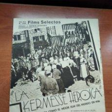 Cine: FILMS SELECTOS - Nº322 -AÑO VII-EDITADA EN LOS AÑOS 30-TALLERES GRAFICOS S.G.(EMPRESA COLECTIVIZADA). Lote 236331840