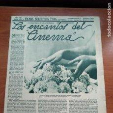 Cine: FILMS SELECTOS - Nº321 - AÑO VIII - REVISTA EDITADA EN LOS AÑOS 30. Lote 236332690