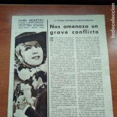 Cine: FILMS SELECTOS - Nº326 - AÑO VIII - REVISTA EDITADA EN LOS AÑOS 30. Lote 236333050
