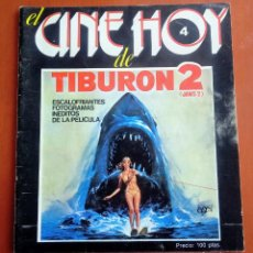 Cinema: REVISTA DE CINE TIBURON 2. JAWS 2. ORIGINAL 1978.ROY SCHEIDER, LORRAINE GARY, JEANNOT SZWARC. Lote 236640325
