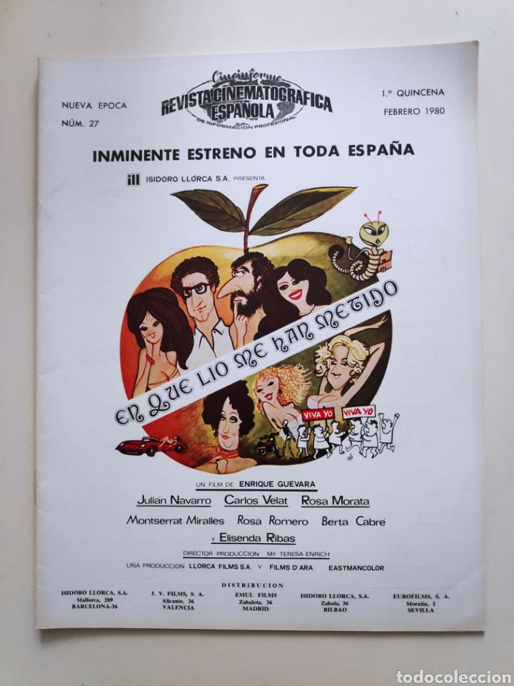 NT CINEINFORME REVISTA CINEMATOGRAFICA ESPAÑOLA N° 27 1980 AVENTURAS DE PININ LUCIO FULCI MAX PECAS (Cine - Revistas - Otros)