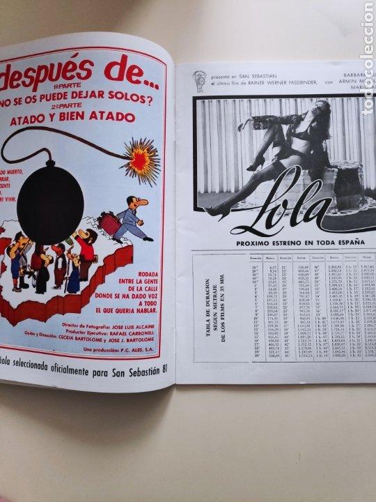 Cine: NT CINEINFORME N° 65 1981 JAMES BOND 007 TERROR SITGES VICTORIA ABRIL FESTIVAL SAN SEBASTIAN 81 - Foto 3 - 236731855