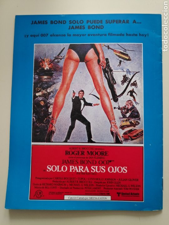 NT CINEINFORME N° 65 1981 JAMES BOND 007 TERROR SITGES VICTORIA ABRIL FESTIVAL SAN SEBASTIAN 81 (Cine - Revistas - Otros)