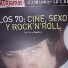 """Cine: REVISTA FOTOGRAMAS - CUADERNOS DE CINE - """"LOS 70: CINE, SEXO Y ROCK' N' ROLL"""", POR SERGI SÁNCHEZ. Lote 236922370"""