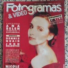 Cine: FOTOGRAMAS FEBRERO 1991. Lote 237077935