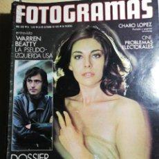 Cine: NUEVO FOTOGRAMAS Nº 1410 OCTUBRE 1975 - CHARO LOPEZ (PORTADA) JOAN MANUEL SERRAT WARREN BEATTY. Lote 237178100